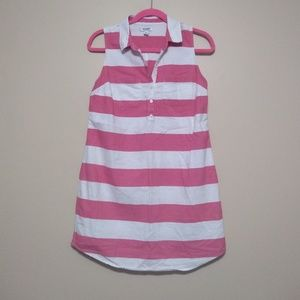 Old Navy pink and white shirt dress size small